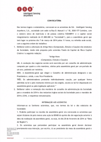 Notice – General Meeting (Portuguese) 07/03/2014